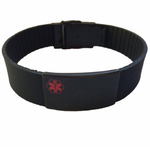 Vital Bands Emergency Medical ID Sport Bracelet (Includes Free Personal Engraving)