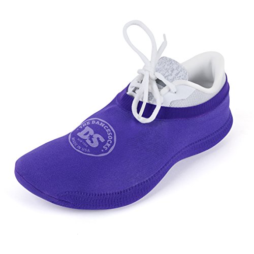THE DANCESOCKS - Over Sneaker Socks for Dancing on Carpeted Floors (Purple) from THE DANCESOCKS