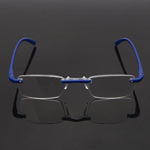 00~4 flexible lire GUBENM 1 flexibles de lecture de pour Lunettes Lunettes Bleu monture mode de lecture 00 de unisexe lunettes sans rUqUOE