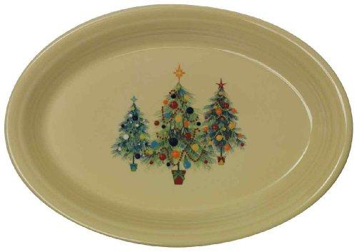 Fiesta 13-5/8-Inch Oval Platter, Christmas Tree