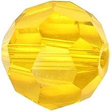 50 10mm Adabele Austrian Round Crystal Beads Light Topaz Compatible with Swarovski Preciosa Crystalized Beads 5000#SS2R-1008