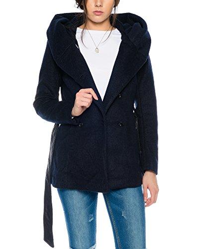 Only Onlmary Lisa Short Wool Coat Cc Otw, Blouson Femme Bleu Fonc