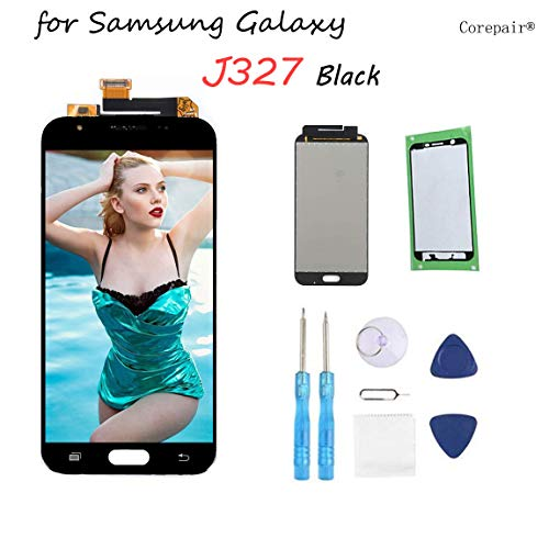 for Samsung Galaxy J3 Screen Replacement LCD Display Touch Digitizer Assembly for J3 2017 Prime SM J327 J327R4 J327T J327T1 Amp Prime 2 J327AZ Emerge J327A J327P J327V Eclipse J327VPP with Tools,Tape