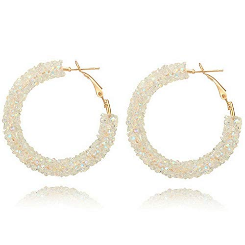 (Waldenn New Women Elegant Hook Earrings Crystal Ear Stud Dangle Hoops Party Jewelry Gift | Model ERRNGS - 9323 |)