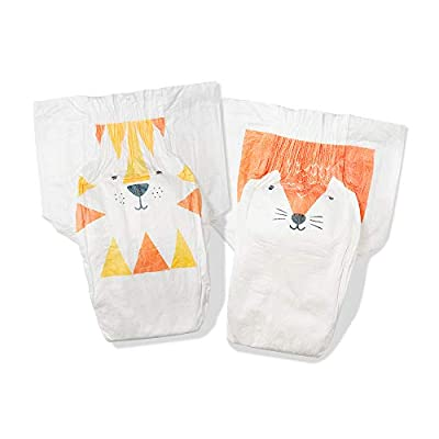 Kit & Kin Eco-Diapers*, 1-Month Supply (Size 4, 170 Disposable Diapers, 34 x 5 Packs, Fox & Tiger)