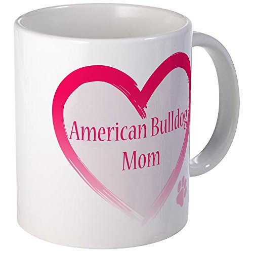 CafePress - American Bulldog Mom Pink Heart Mug - Unique Coffee Mug, Coffee Cup