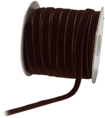 - May Arts 3/8-Inch Wide Ribbon, Brown Velvet