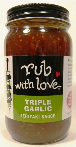 Garlic Teriyaki - Rub with Love Triple Garlic Teriyaki Sauce By Tom Douglas, 16 Ounce