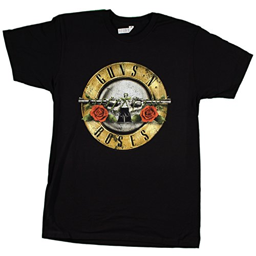 Bravado Guns N Roses Distressed Bullet Lightweight T-Shirt-Small (Gun N Roses Sweet Child O Mine Live)