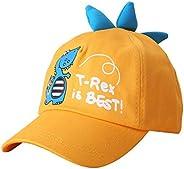 Haokaini Toddlers Boys Dinosaur Baseball Cap Cotton T-Rex Baseball Hat for Children