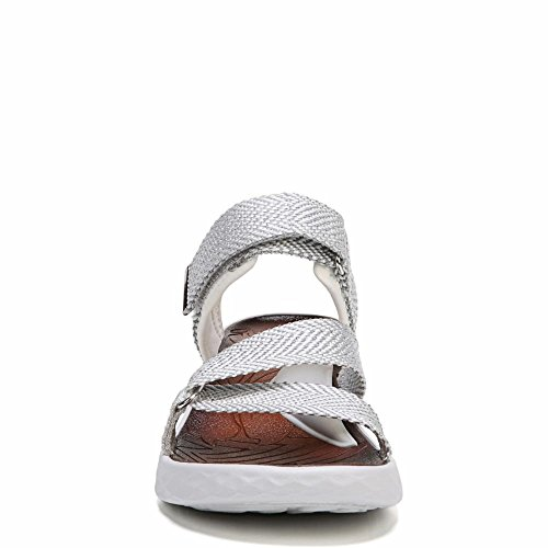 Bzees Womens Jive White / Fluid Webbing M