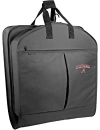 WallyBags Alabama Crimson Tide 40 Inch Suit Length Garment Bag with Pockets, Black, One Size