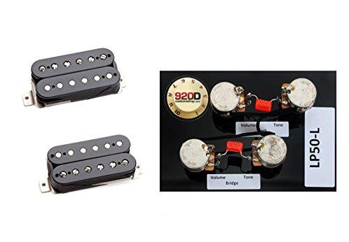 (Duncan SH-1 Vintage Blues Pickup Set, Black Plus Les Paul Wiring Harness Long)