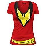 Dark Phoenix Deep V-Neck Tunic Junior's T-shirt M