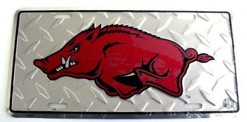 Ncaa Arkansas Razorbacks Diamond Plate - NCAA University of Arkansas Razorbacks Diamond Cut 6
