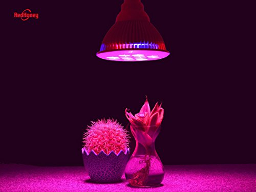 LED Grow Light bulb, redhoney High Efficient Hydroponic Plant Grow Lights system for Garden Greenhouse and Hydroponic Aquatic,12W