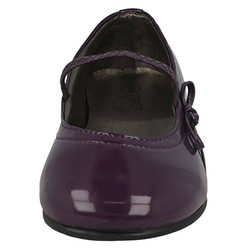 Purple Side Bar Strap Ballerina Elastic On with Flat Spot Bow amp; npxqH6BwWv