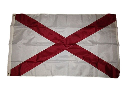 AES 3x5 Embroidered St. Patrick's Cross 210D Sewn Nylon Flag 3'x5' w/Clips Banner Brass Grommets House Banner Brass Grommets Fade Resistant Double Stitched Premium Quality