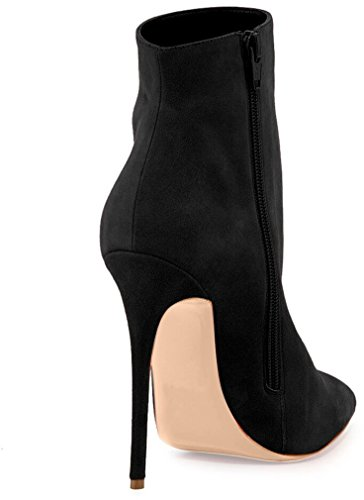 Arraysa Women Abaao 10CM Zipper Stiletto Boots Black cNYpiJsm6C