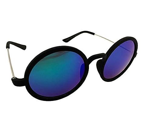 Dasoon vision Gafas de Sol Redondas Negras y Cristales ...