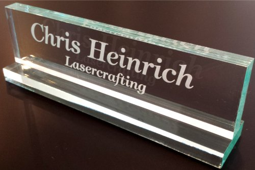 Office Desk Name Plate 1/2' glass-like acrylic personalized / customized