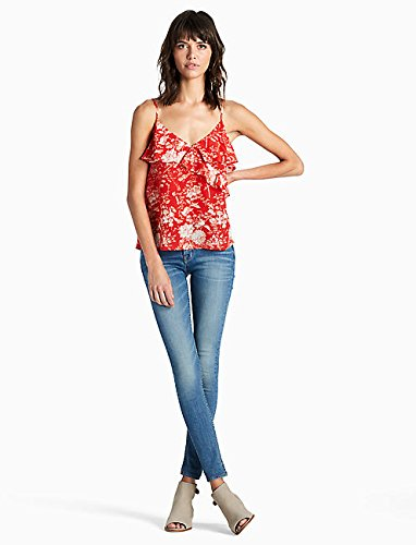 (Lucky Brand Women's Floral Silk Ruffle Cami (Medium))