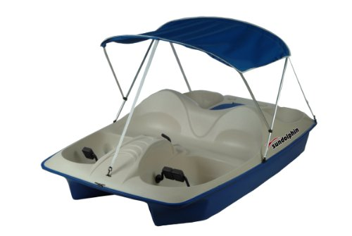 SUNDOLPHIN Sun Dolphin 5 Seat Pedal Boat with Canopy (Blue)