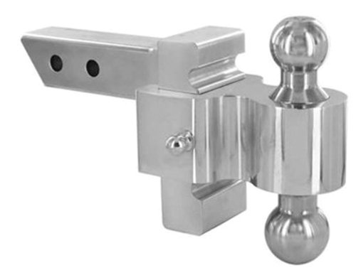 Drop/Rise Rapid Hitch with Plated Steel Combo Ball (2