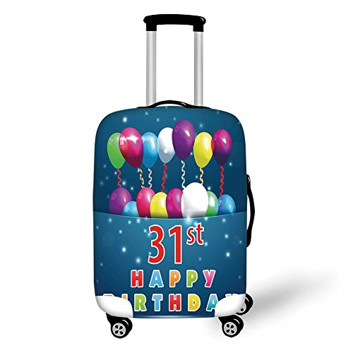 Travel Luggage Cover Suitcase Protector,31st Birthday Decora