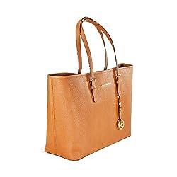 Michael Kors Jet Set Travel Multifunction Tote Handbag - Coffee