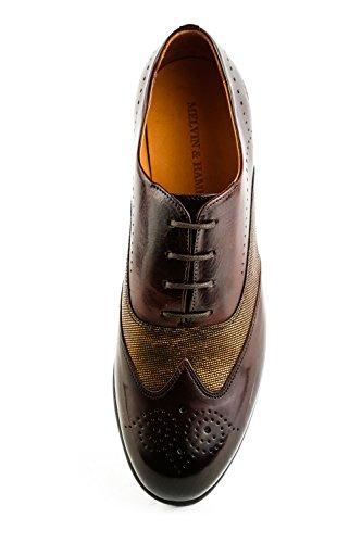 amp; de Chaussures Lacets Hamilton 1112 Marron Melvin Ville Marron à Femme pour MH15 nZwTanq