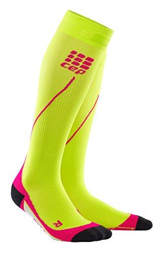 Box Down Blend Wrap - CEP Women's Progressive+ Compression Run Socks 2.0, 20-30mmHg Compression, Lime/Pink, Size 3