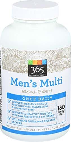 365 Everyday Value, Men's Multi Iron-Free, 180 ct