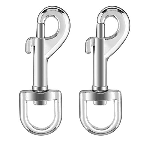 2 Pcs 3.5'' Stainless Steel 316 Swivel Eye Bolt Snap Hooks - Flag Clips for Pet Dog Leash Flag Pole Key Chain Clothlines Tarp Cover