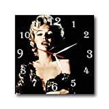 Cheap Marilyn Monroe 11.4'' Handmade Wall Clock – Get Unique décor for Home or Office – Best Gift Ideas for Kids, Friends, Parents and Your Soul Mates