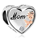 Lifequeen Super Mom Mother Daughter I Love You Charm Infinity Heart Charms Beads for Bracelets (Heart Mom)