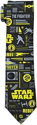 Star Wars Men's Fighters Icons Tie