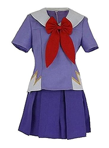FTSUCQ The Future Diary Gasai Yuno Mirai Nikki Top&Skirt Cosplay Costume, US (2-4) Purple]()