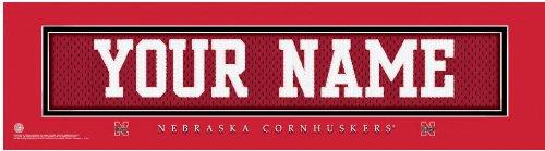 Cornhuskers Framed Nebraska (NCAA Jersey Stitch Print Nebraska Cornhuskers Personalized Framed)