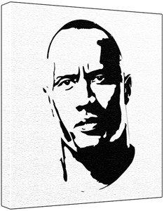 dwayne the rock johnson coloring pages - dwayne the rock johnson pop art painting 100 original