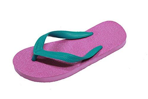 Ruay Tang Mens Gummi Strand Flip Flops Sandaler Violett - Grön