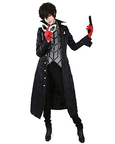 Miccostumes Men's Protagonist Phantom Thief Cosplay Costume Mask (Men s) Black]()