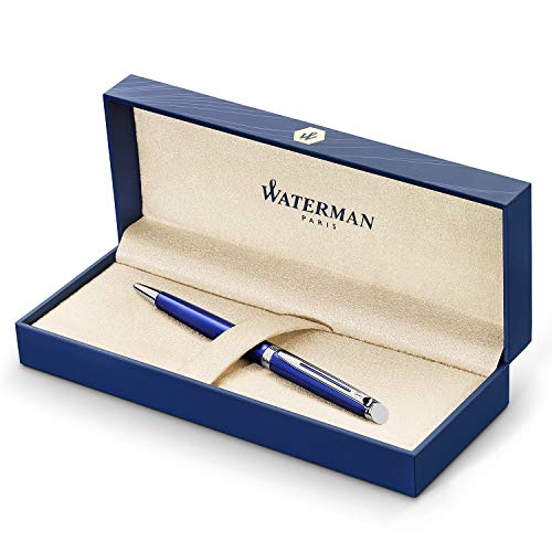 Waterman Hemisphere Ballpoint Pen Medium Point with Blue Ink Cartridge (2042968) Ct Slim Ballpoint Pen