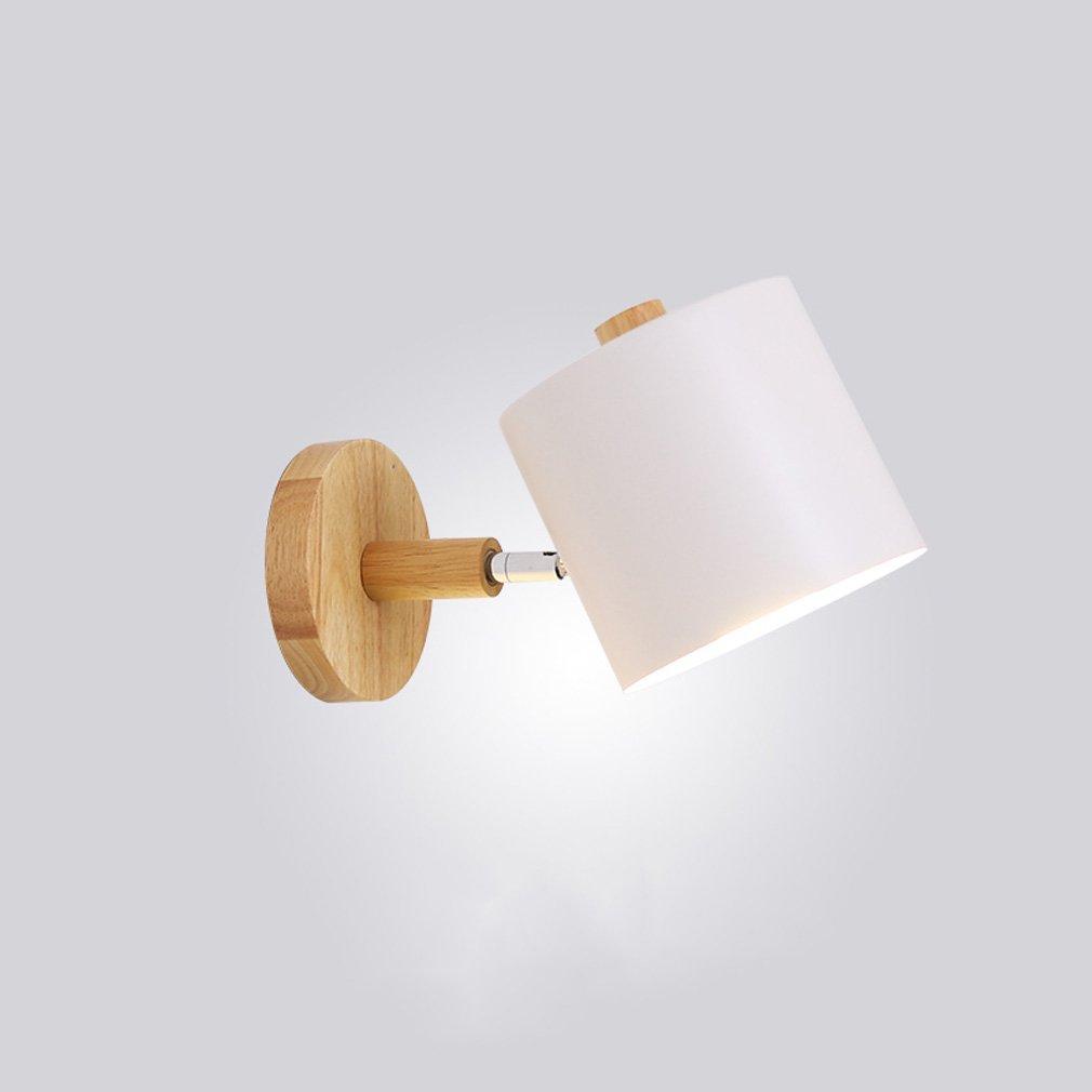 bellissima 1411 Lampada da Parete Camera da Letto in in in Legno massello Nordico Moderno Lampada da Parete Sfondo Minimalista Soggiorno Creativo Lampada da Comodino corridoio XQQQ  elementi di novità