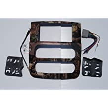 Dodge Ram double din (1500, 2500, 3500) Radio Stereo Double Din Navigation Black Bezel Installation Kit (2002 2003 2004 2005) Mossy Oak Break Up Infinity