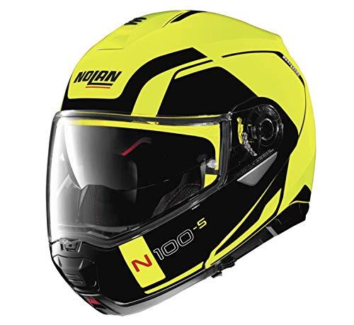 Nolan N100-5 Consistency Helmet (Yellow, - Motorcycle Nolan Helmet Modular
