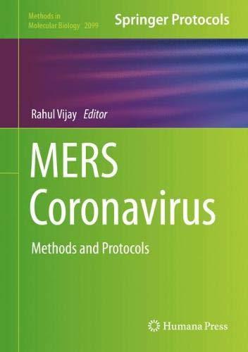 MERS Coronavirus: Methods and Protocols (Methods in Molecular Biology)