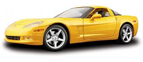 C6 Diecast Car Model (Chevy Corvette, Yellow - Maisto 31117 - 1/18 Scale Diecast Model Toy Car)