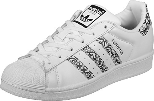 adidas Superstar W, Zapatillas de Deporte para Mujer Blanco (Ftwbla / Negbas / Ftwbla)