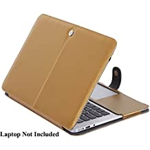 """MacBook Pro Cover, SlickBlue Premium Quality PU Leather Folio Case Cover with Magnetic closure for MacBook Pro 13.3"""" (Model: A1278) - Champagne Gold"""
